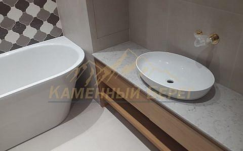Столешница в ванную Noble Carrara