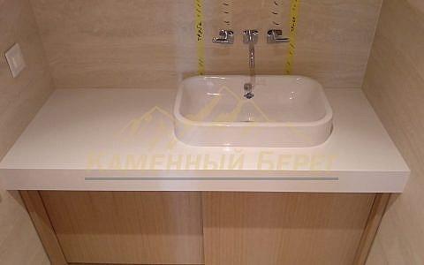 Столешница в ванную из агломерата 18000 руб. под ключ