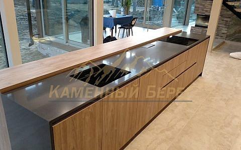 кухонная столешница Technistone Crystal Antracite