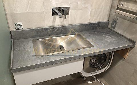 Столешница в ванную лофт Caesarstone 4033 Rugged Concrete