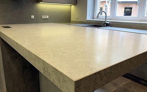 матовая поверхность материала Vicostone Concreto BQ8860